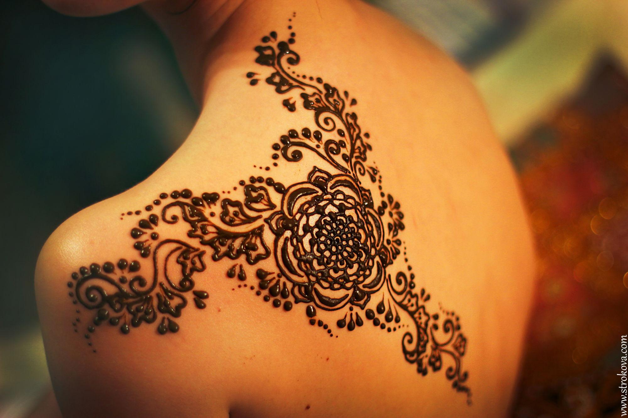Рисунки для татуировок хной для девушек фото